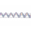 Metallic 3/8'' Single Braid Silver Hologram Matt